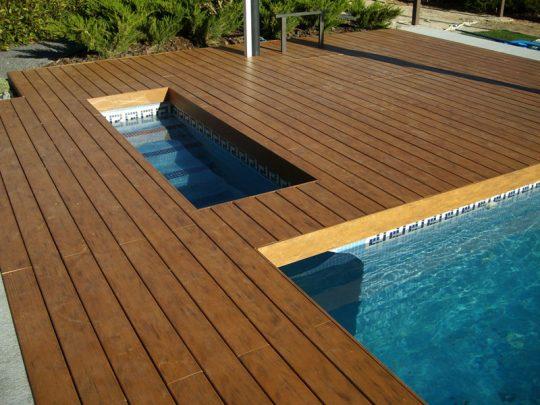 Tarima de madera para exterior