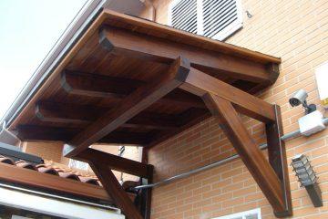 Estructura de madera para jardín