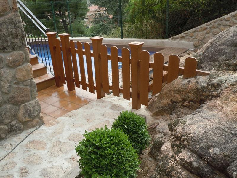 Vallas de madera para jard n p rgolas la arboleda - Cortavientos de jardin ...