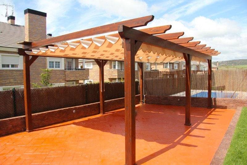 Pérgolas de madera en terrazas